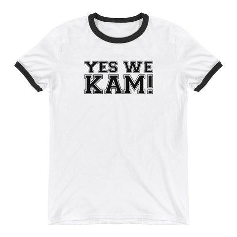 Yes We Kam Black Unisex Ringer Tee
