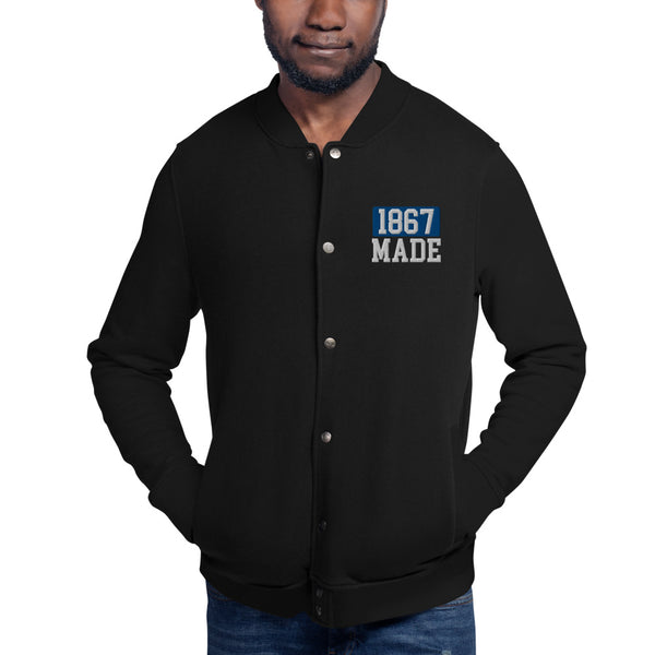 Morgan State University 1867 Made Embroidered Champion Bomber Jacket - We Wear Our HBCUs