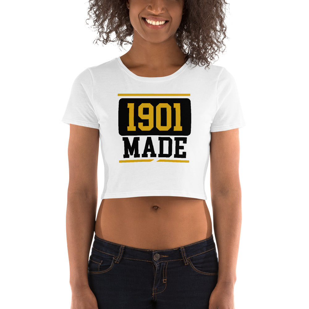 1901 MADE Grambling State University Women's Crop Tee - We Wear Our HBCUs