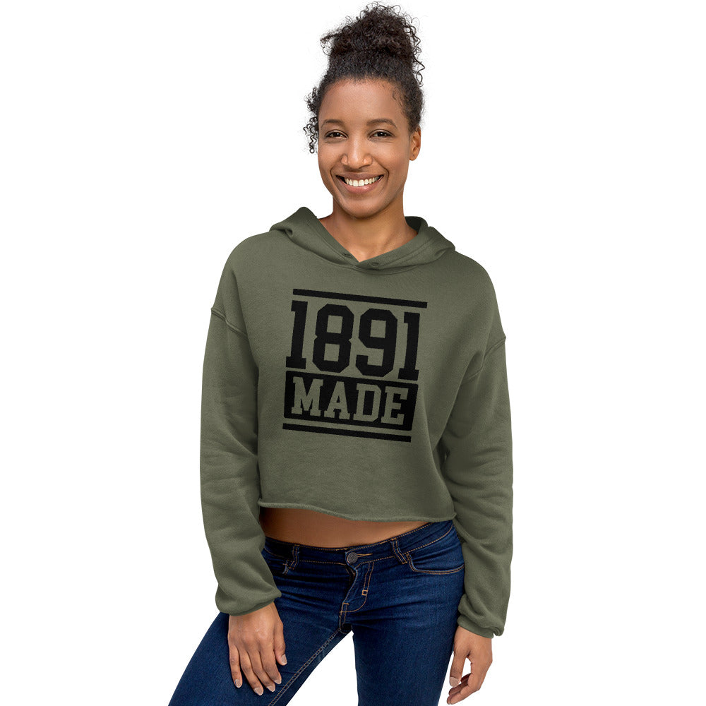 North Carolina A&T - 1891 Made Crop Hoodie - We Wear Our HBCUs