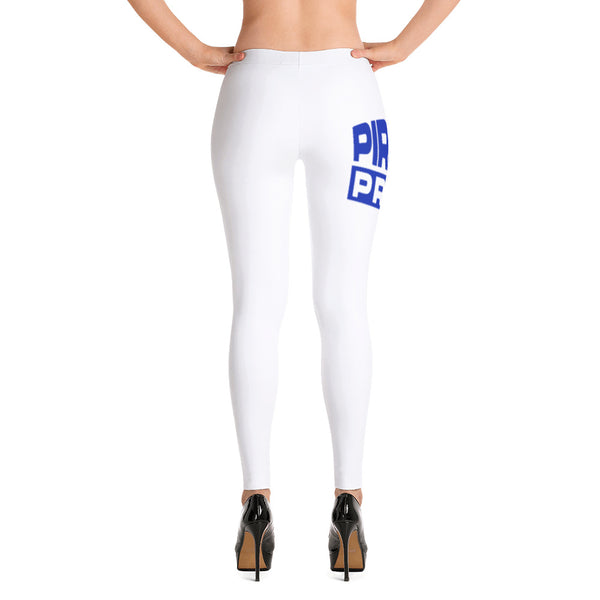 Pirate Pride | Hampton University | Stretchy Fashion Leggings With Black Stitching - We Wear Our HBCUs