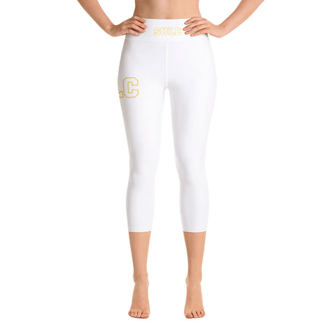 SULC | Southern University Law Center | Yoga Capri Leggings With High Elastic Waistband - We Wear Our HBCUs