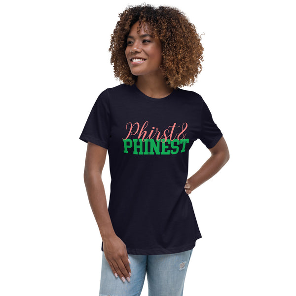 Alpha Kappa Alpha Phirst & Pinest  Women's Relaxed T-Shirt - We Wear Our HBCUs