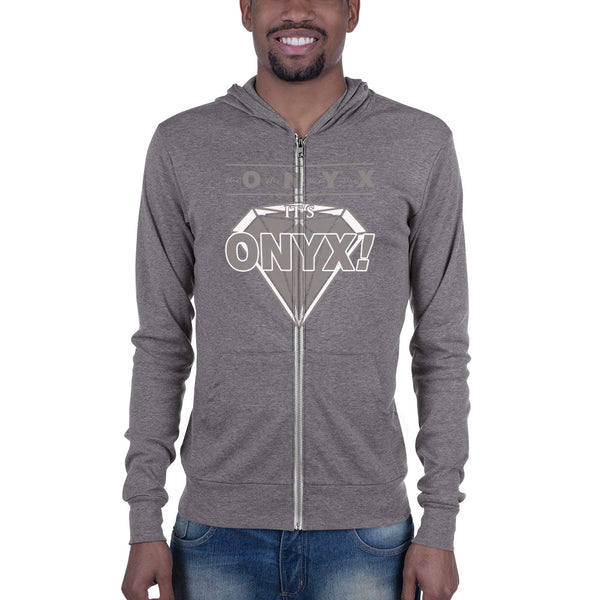 Hampton University | ONYX | Unisex zip hoodie with kangaroo pocket -  men size up - We Wear Our HBCUs