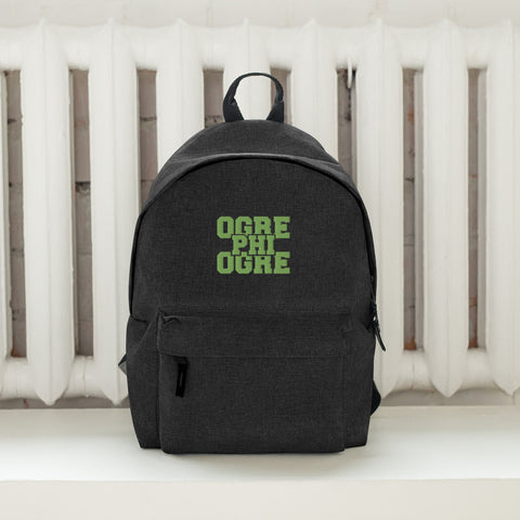 Hampton University Ogre Phi Ogre Embroidered Simple Backpack