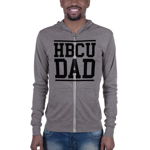 HBCU DAD Unisex Lightweight Zip Hoodie - We Wear Our HBCUs