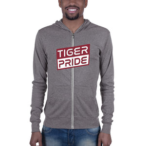 Texas Southern University  Tiger Pride  Unisex zip hoodie - men size up - We Wear Our HBCUs