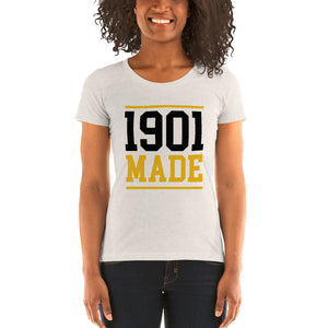 1901 MADE Grambling State University Women's Tri-Blend Tee - We Wear Our HBCUs