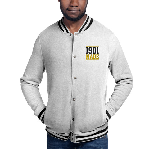 1901 MADE Grambling State University Embroidered Champion Bomber Jacket - We Wear Our HBCUs