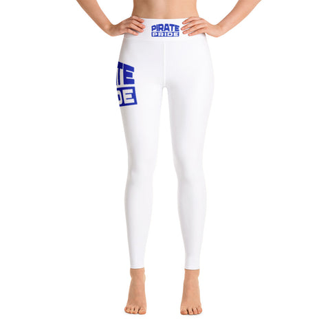 Pirate Pride | Hampton University | Yoga Leggings With Raised Waistband - We Wear Our HBCUs