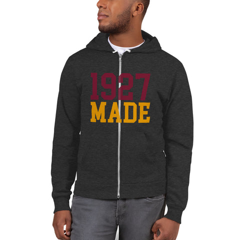 1927 Made Texas Southern Unisex Zip-Up Fleece Hoodie - We Wear Our HBCUs