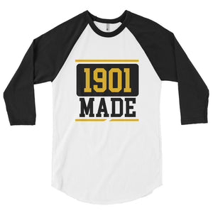 1901 MADE Grambling State University 3/4 sleeve raglan shirt - We Wear Our HBCUs