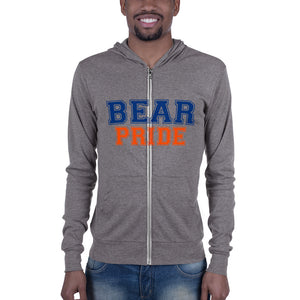 Morgan State University Bear Pride Unisex Lightweight Zip Up Hoodie - men size up - We Wear Our HBCUs