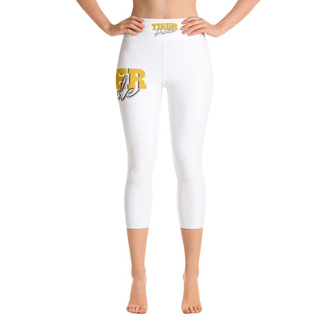 Tiger Pride  Grambling State University   Yoga Capri Leggings With Black Stitches - We Wear Our HBCUs
