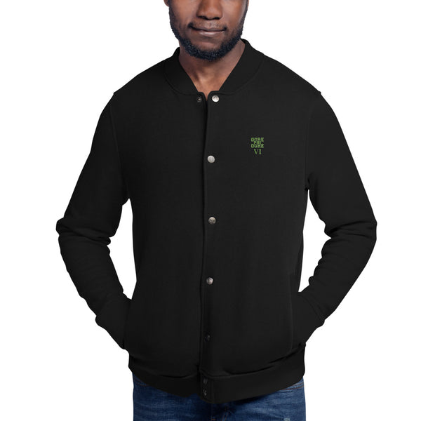 Hampton University Ogre Phi Ogre VI Embroidered Champion Bomber Jacket - We Wear Our HBCUs
