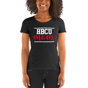 HBCU Mom Red and White Ladies' short sleeve t-shirt - We Wear Our HBCUs