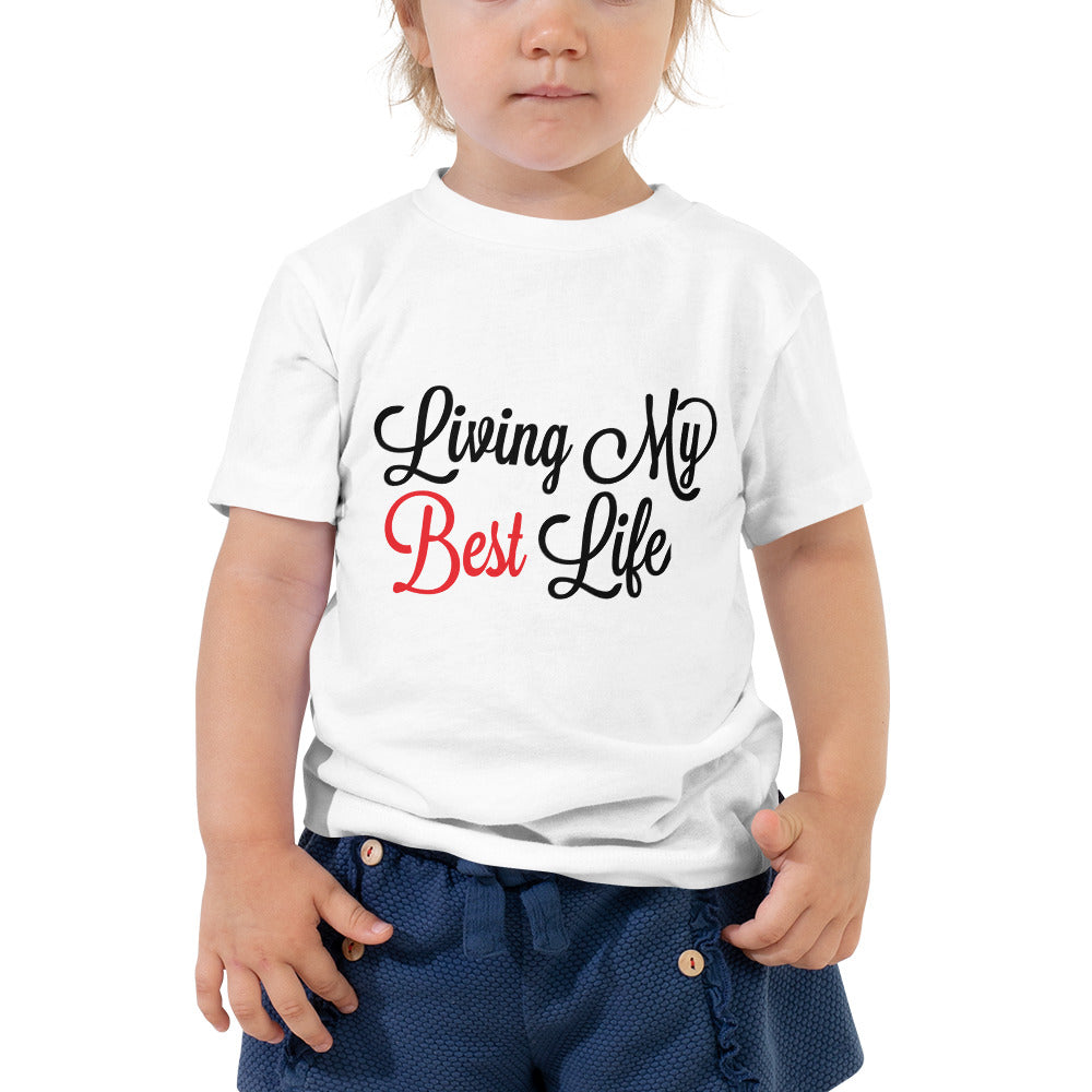 Living My Best Life | Inspirational Baby Toddler Short Sleeve Tee Shirt For Kids - We Wear Our HBCUs