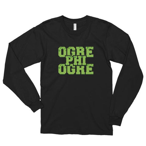 Hampton University Ogre Phi Ogre Unisex Long Sleeve T-shirt - We Wear Our HBCUs