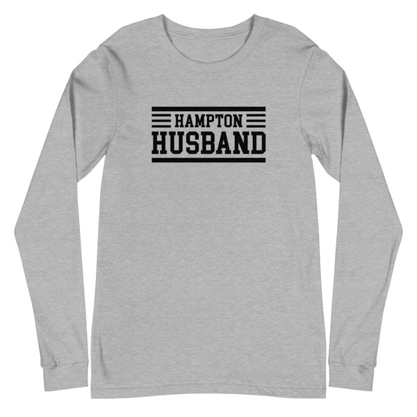 Hampton University Hampton Husband Unisex Long Sleeve Tee - We Wear Our HBCUs
