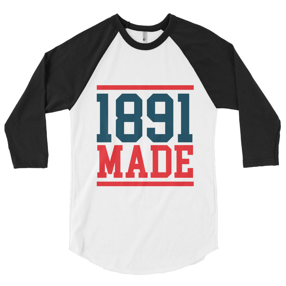 1891 Made Delaware State 3/4 sleeve raglan shirt - We Wear Our HBCUs