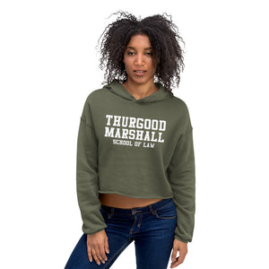 Thurgood Marshall School of Law Crop Hoodie - We Wear Our HBCUs