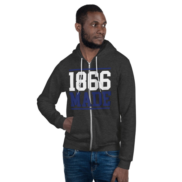 Lincoln University (MO) 1866 Made Unisex Zip-Up Fleece Hoodie - We Wear Our HBCUs