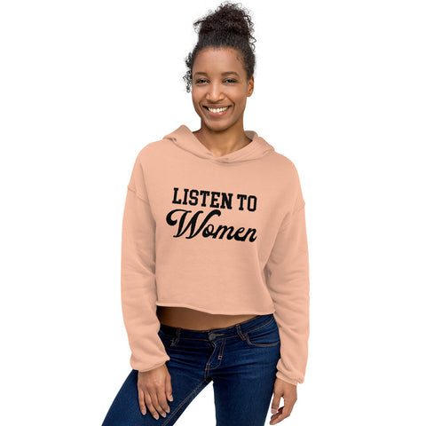 Listen to Women Cropped Hoodie - We Wear Our HBCUs