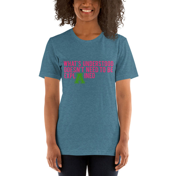 Alpha Kappa Alpha What's Understood Basic T-Shirt up to 4XL - We Wear Our HBCUs