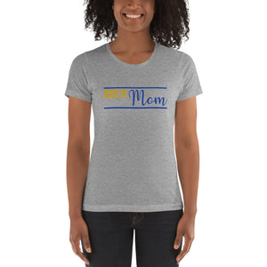 HBCU Mom Yellow and Blue Women's t-shirt - We Wear Our HBCUs
