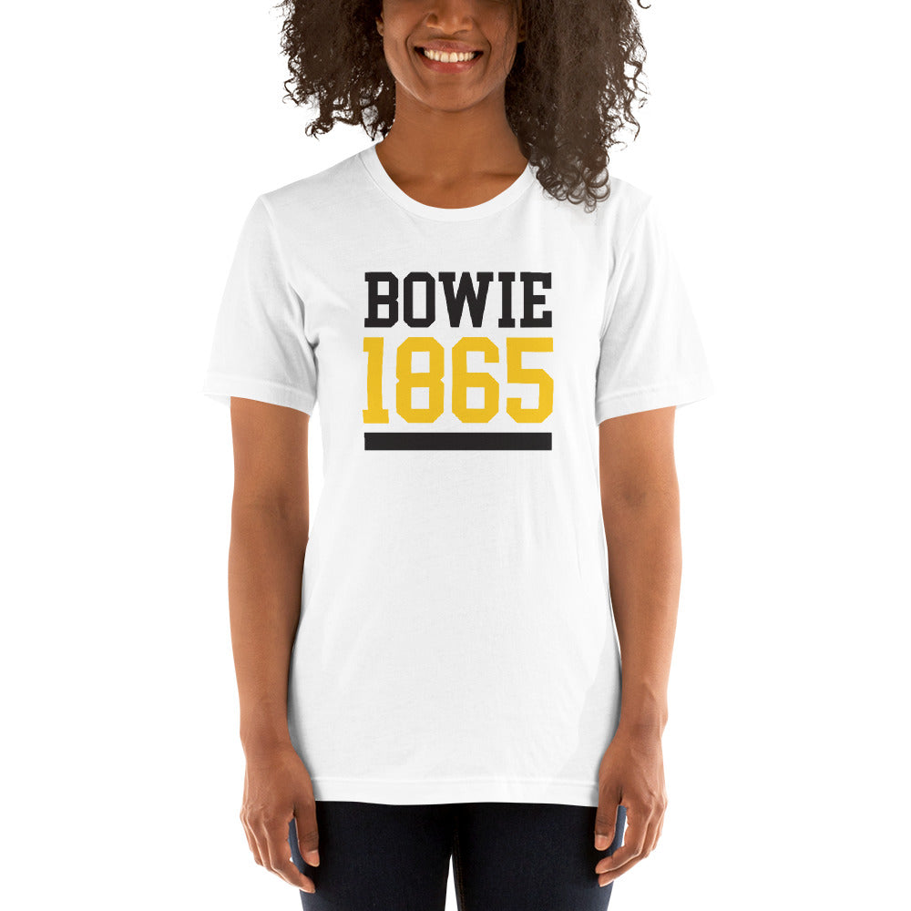 Bowie State University 1865 Lightweight Short-Sleeve Unisex T-Shirt - We Wear Our HBCUs