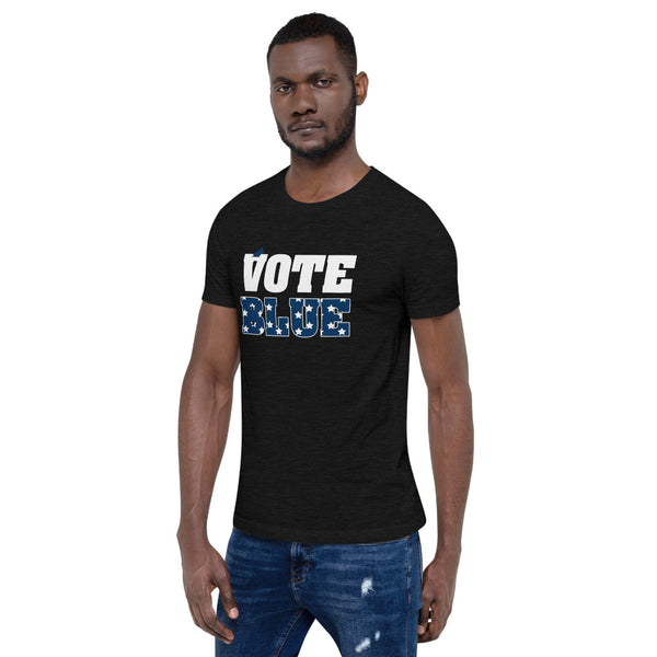Vote Blue Short-Sleeve Men's T-Shirt  Unisex Premium T-Shirt - We Wear Our HBCUs
