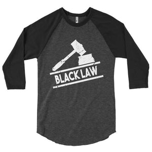 Black Law Classic Baseball 3/4 Sleeve Raglan Shirt - We Wear Our HBCUs