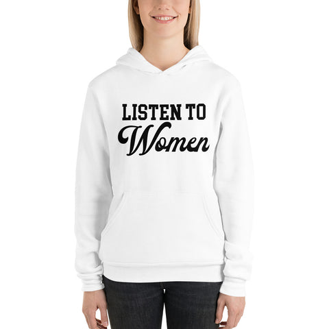 Listen to Women Unisex Pullover Hoodie - We Wear Our HBCUs