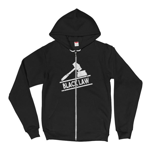 Black Law Unisex Hoodie Zip Up With Kangaroo Pockets - We Wear Our HBCUs
