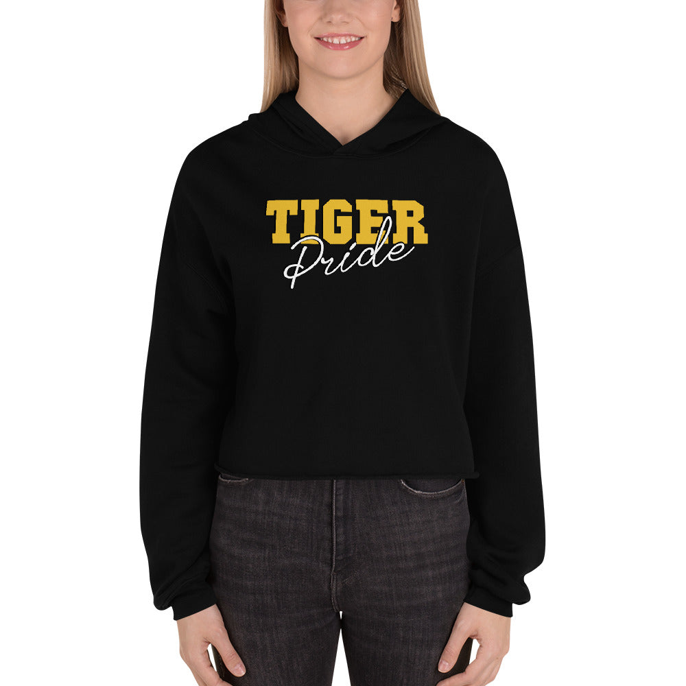 Tiger Pride  Grambling State University  Crop Top Hoodie With Dropped Shoulder - We Wear Our HBCUs