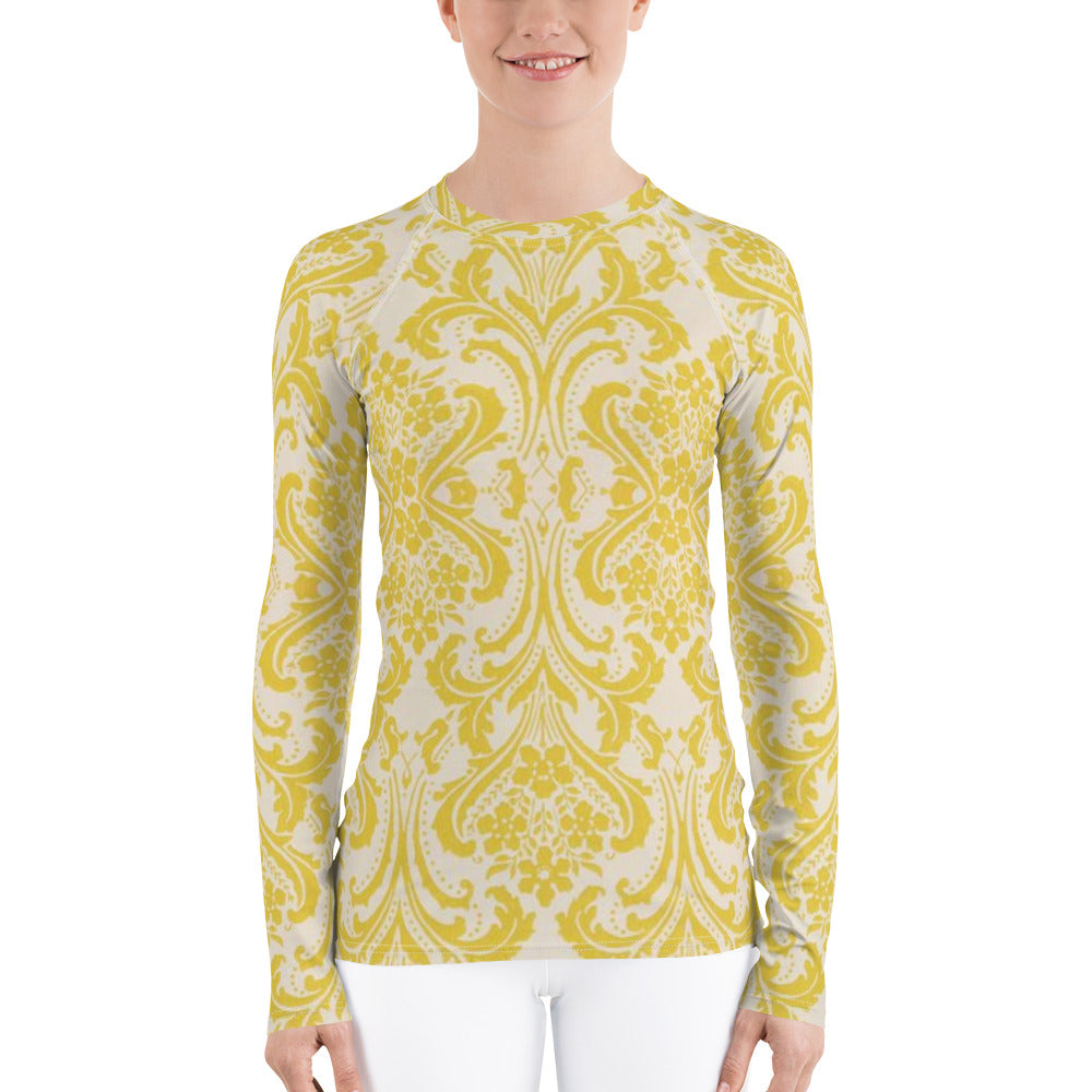 Yellow & White | Women's Rash Guard - We Wear Our HBCUs