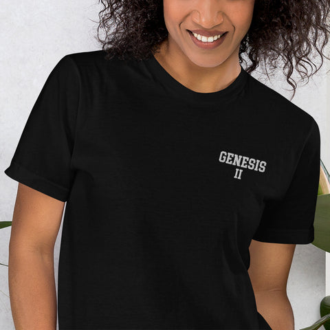 Hampton University Genesis II Unisex Embroidered T-Shirt - We Wear Our HBCUs