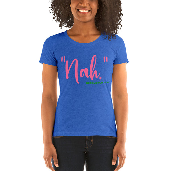 "Alpha Kappa Alpha ""Nah"" Nellie Mae Quander Super Women's Tri-Blend Tee - We Wear Our HBCUs"