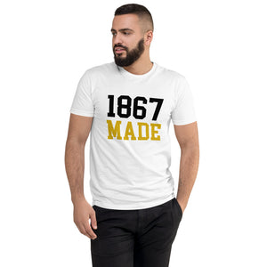 Alabama State University 1867 Made Men's Fitted T-Shirt up to 3XL - We Wear Our HBCUs