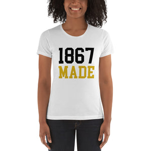 Alabama State University 1867 Made Women's Boyfriend Tee - We Wear Our HBCUs