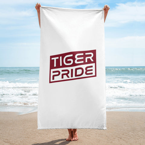 Tiger Pride Texas Southern University  TSU Towel for the Beach, Pool or the Bathroom - We Wear Our HBCUs