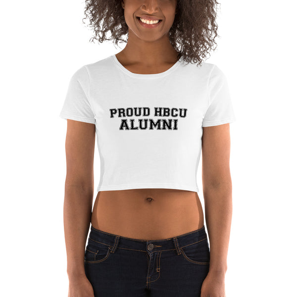 PROUD HBCU ALUMNI Women's Crop Tee - We Wear Our HBCUs