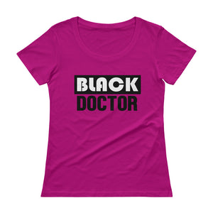 Black Doctor Ladies' Scoopneck T-Shirt - We Wear Our HBCUs