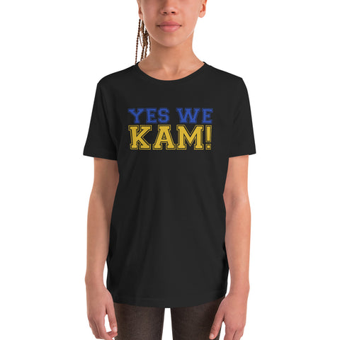 Yes We Kam Yellow and Blue Youth Basic Tee