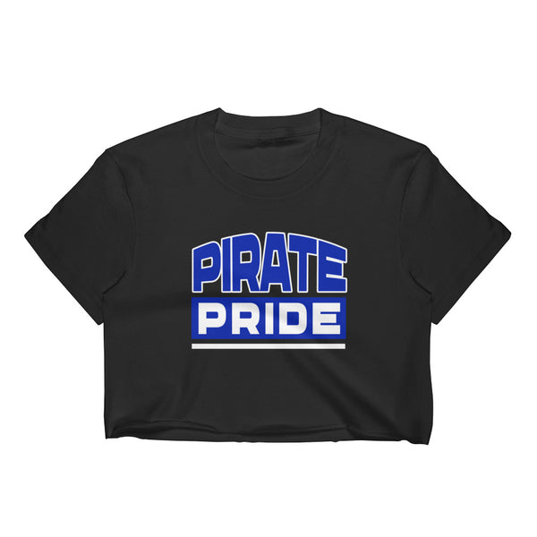 Pirate Pride | Hampton University | Women's Form Fitting Crop Top - We Wear Our HBCUs