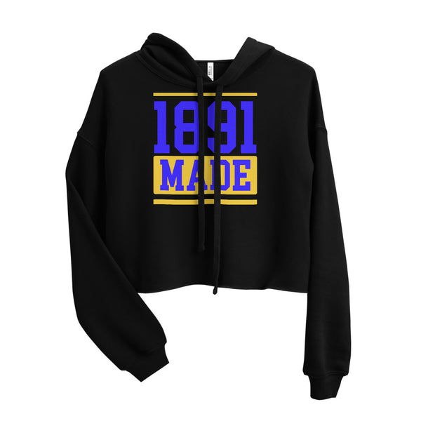 North Carolina A&T 1891 Made Crop Hoodie - We Wear Our HBCUs