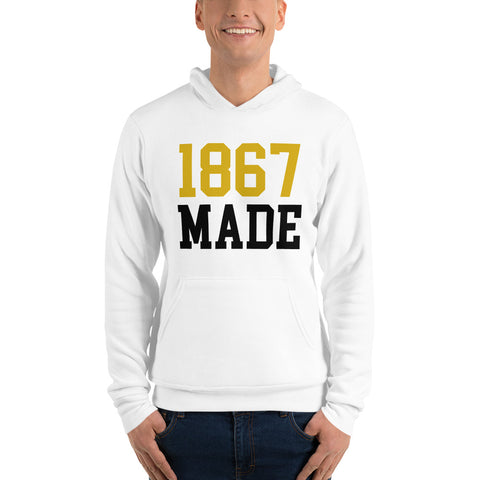 Alabama State University 1867 Made Unisex Pullover Hoodie - We Wear Our HBCUs