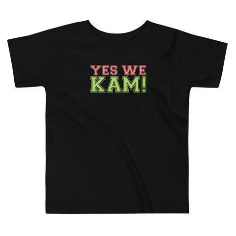 Yes We Kam Pink and Green Toddler Tee Upto 5T