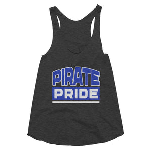 Pirate Pride | Hampton University | Slim Form Fitting Women's Tri-Blend Racerback Tank - We Wear Our HBCUs