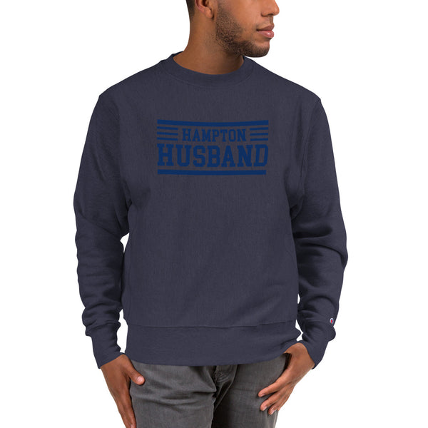 Hampton University Hampton Husband Champion Sweatshirt - We Wear Our HBCUs